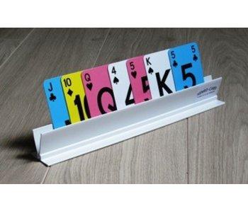 Speelkaartenhouder in kunststof wit Henro Card