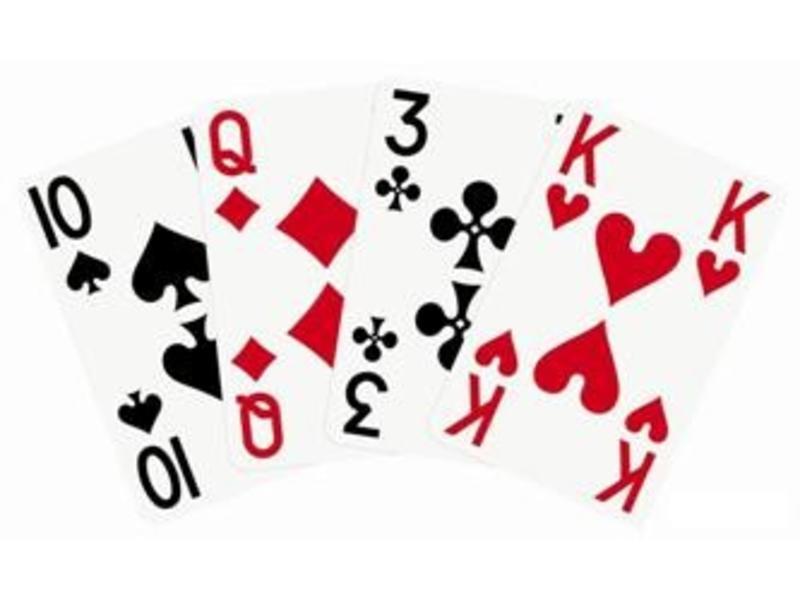 Speelkaarten met grote opdruk