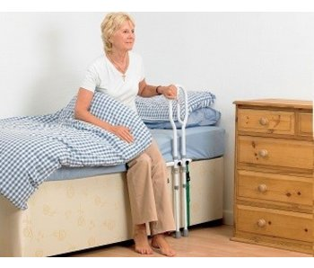 Bed Transfer with support bracket on the floor Bed Grab Rail