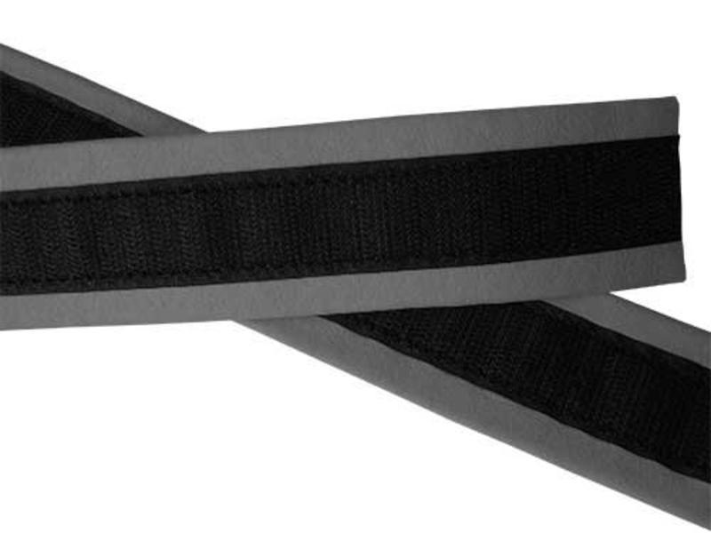 VELCRO® brand Polster bracelet en cuir de chamois gris