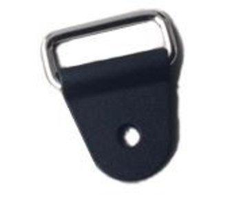 Kunststoffschnalle mit Metallring. Innenringbreite 25, 38 und 50 mm.