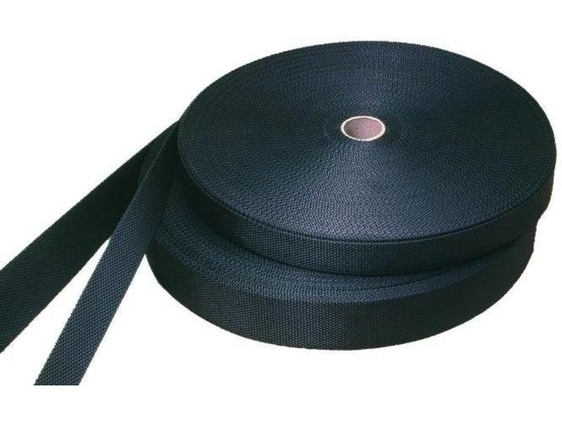 Polypropyleen webbing band zwart