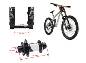FIX-FORK Thru Axle 20-110 mm