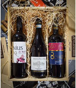 Cadeaupakket De Wijnschuur Favorieten: Vol & Stevig Rood