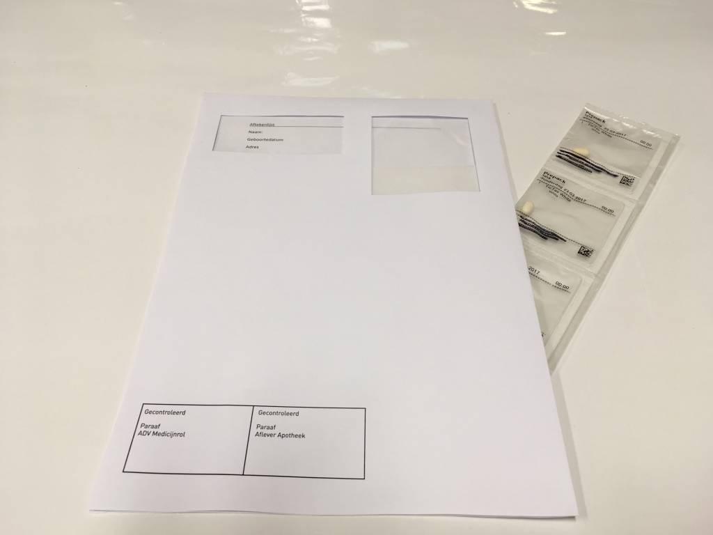 Medicijnrol bezorg envelop