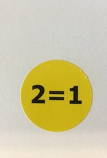 Afprijsetiket rond 2=1