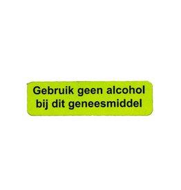 Gebruik geen alcohol
