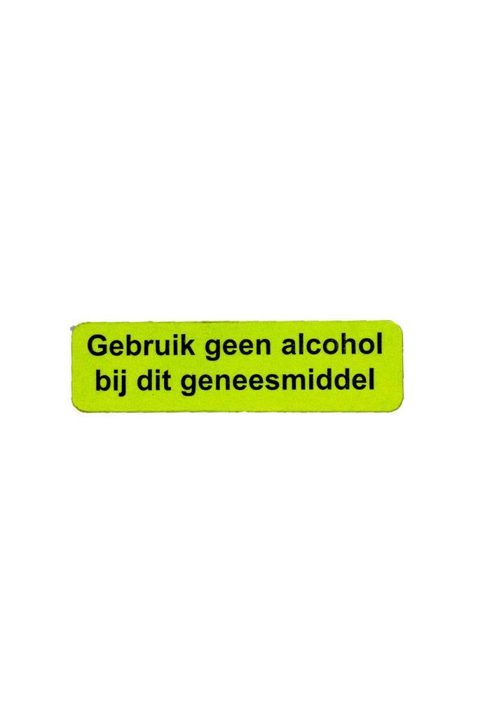 Gebruik geen alcohol bij dit geneesmiddel