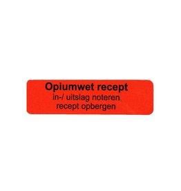 Opiumwet recept in-/uitslag