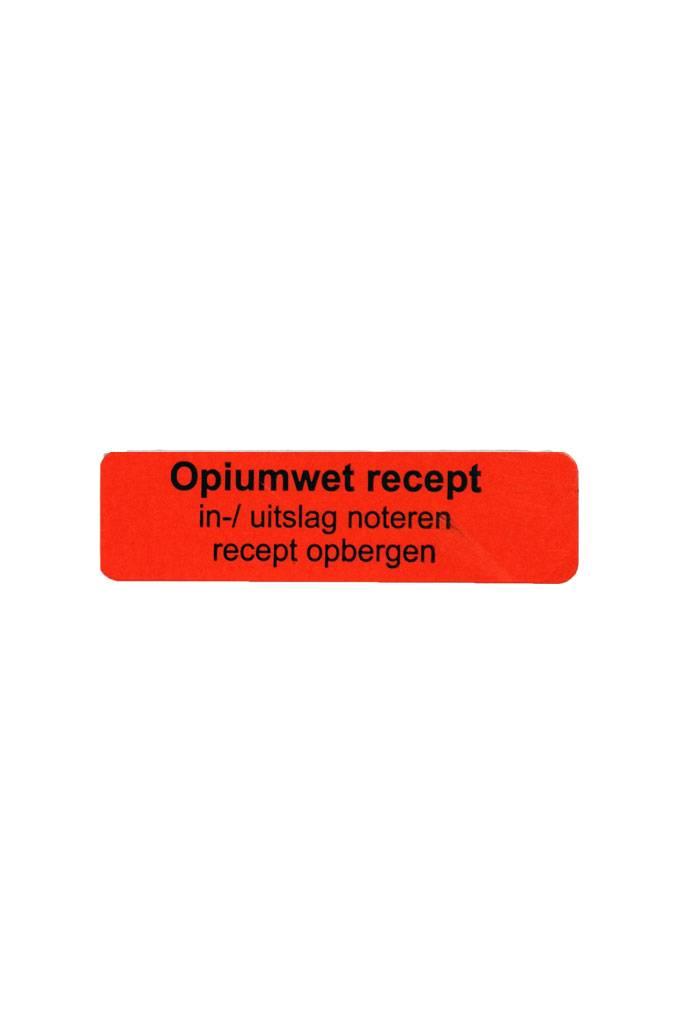 Opiumwet recept in-/uitslag noteren