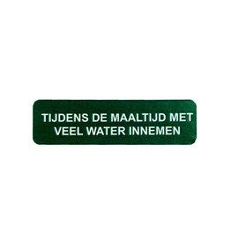 Tijdens de maaltijd water innemen v.a. €1,50
