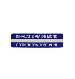 Inhalatie via de mond / neus v.a. €1,50