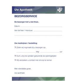Bezorgservice blok met universeel Europees logo