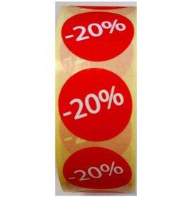 Afprijsetiket Rond -20% v.a.€ 3,75 p.rol 1.000 st.