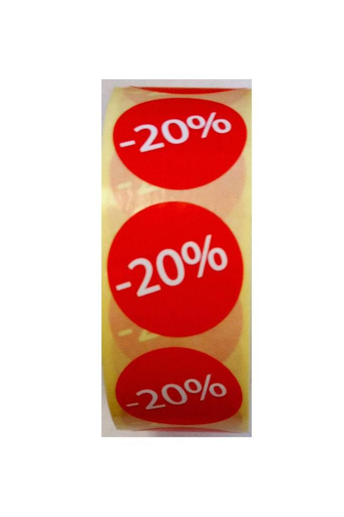 Afprijs Rond -20 v.a.€3,75p.rol