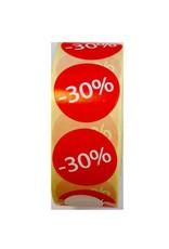 Afprijsetiket Rond -30% v.a. €3,75 p.rol