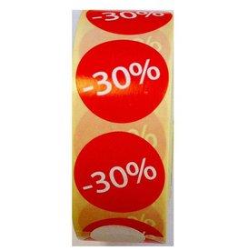 Afprijsetiket Rond -30% v.a. €3,75 p.rol 1.000 st.