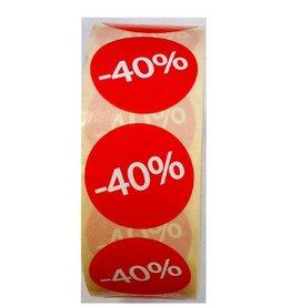 Afprijsetiket Rond -40% v.a. € 3,75 p.rol 1.000 st.