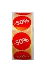 Afprijsetiket Rond -50% v.a. € 3,75 p.rol