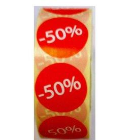Afprijsetiket Rond -50% v.a. € 3,75 p.rol 1.000 st.