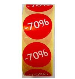 Afprijsetiket Rond -70% v.a.€ 3,75 p.rol 1.000 st.