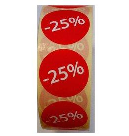 Afprijsetiket Rond -25% v.a. € 3,75 p.rol 1.000 st.