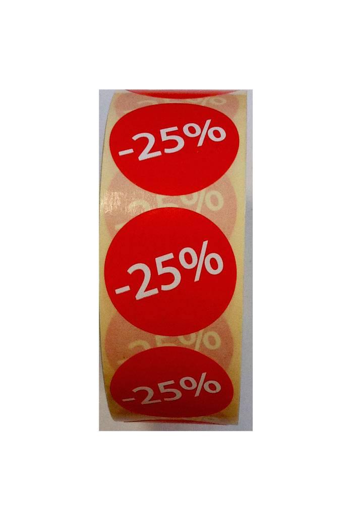 Afprijsetiket Rond -25% v.a. € 3,75 p.rol