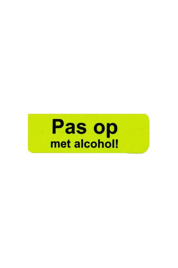 Pas op met alcohol
