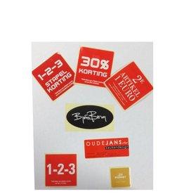 Maatwerk etiketten, cadeau etiket, wensetiket , sluitetiket, promotie etiket