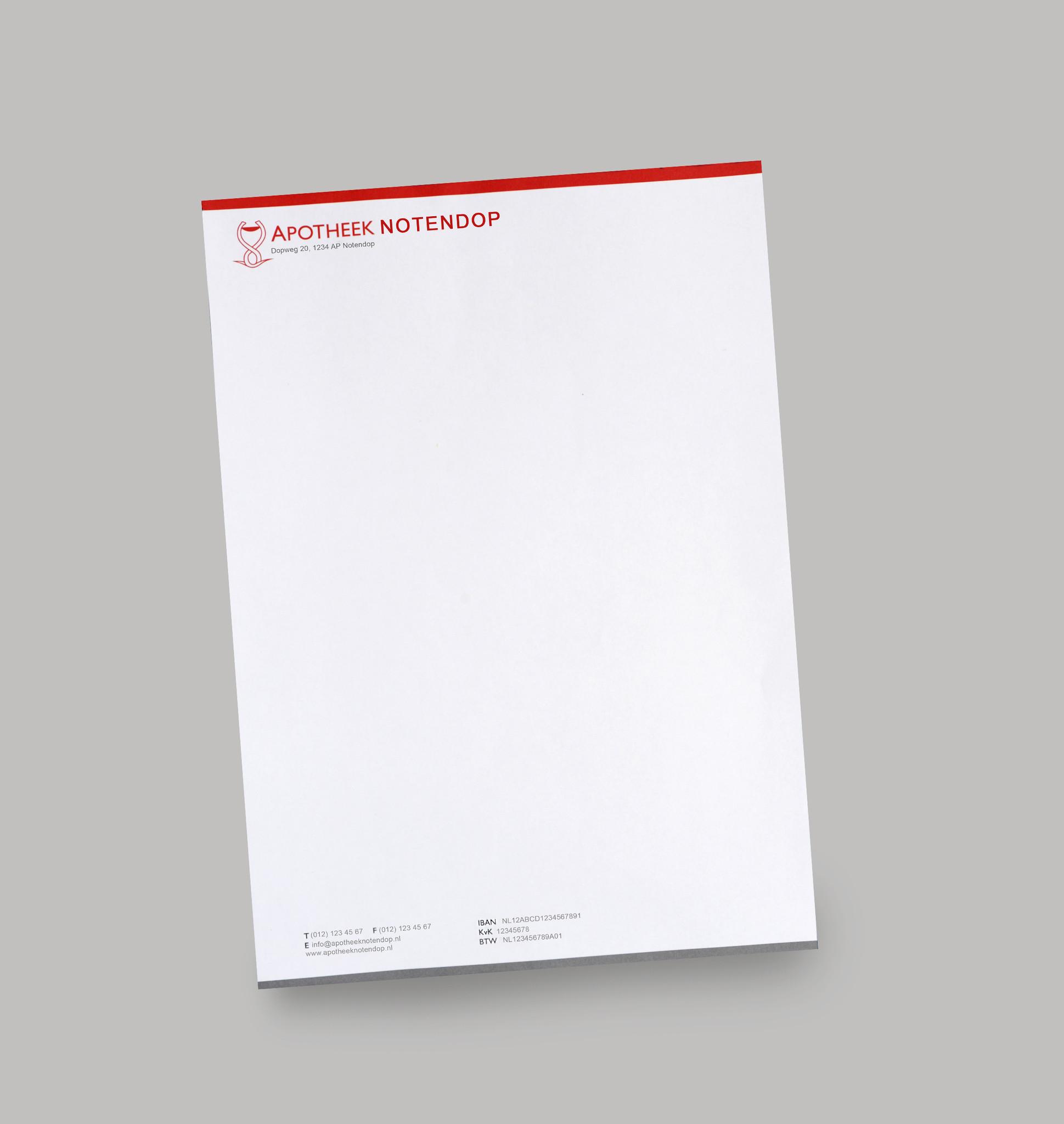 Briefpapier met uw eigen naamlogo A4