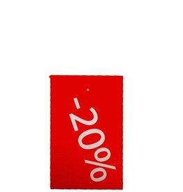 Afprijs hangkaartje -20%
