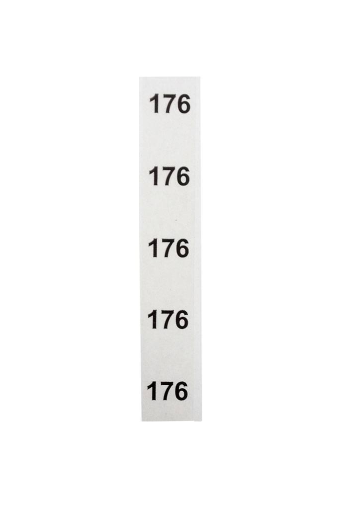 Stapeletiket Maat 176 transparant
