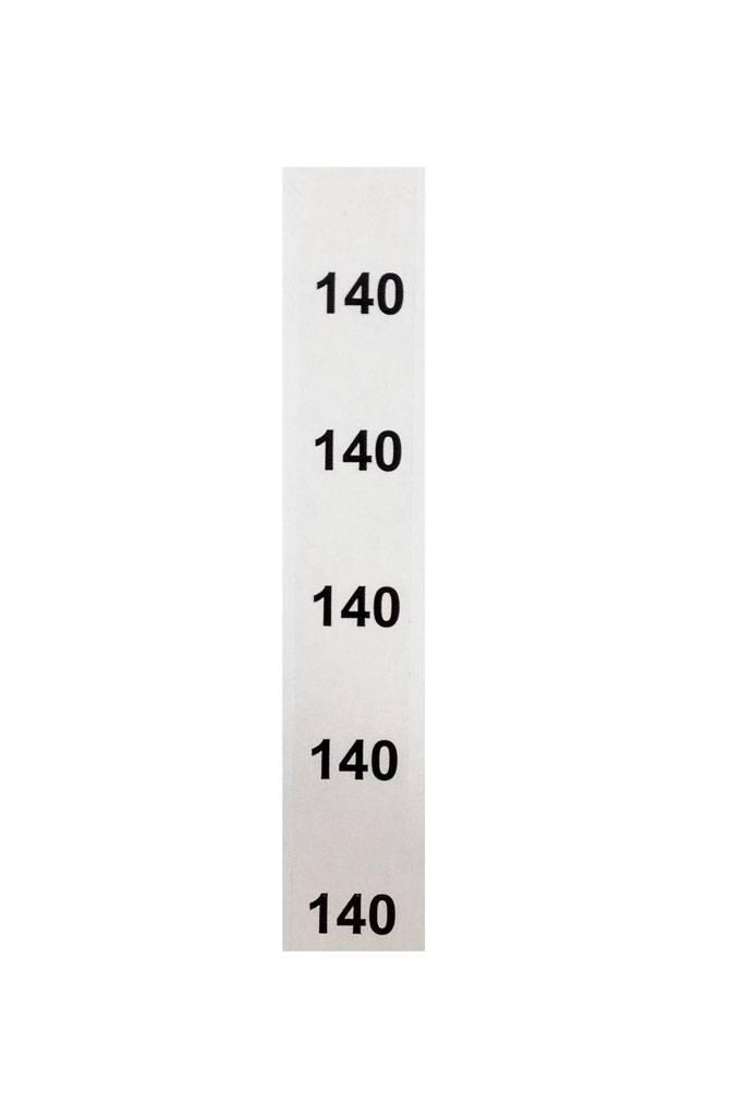 Stapeletiket Maat 140 transparant