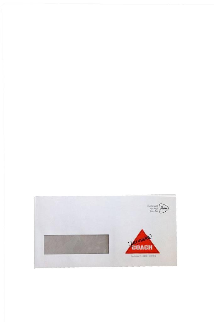 Enveloppen A6 met plakstrip met eigen naamlogo
