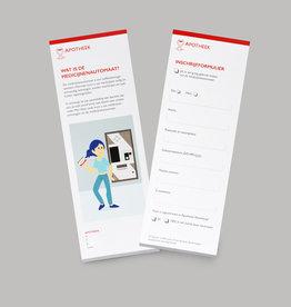 Drukwerk folder medicijnautomaat
