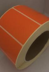 Etiket 67x35mm Oranje