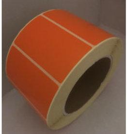Etiket 65x35mm Oranje