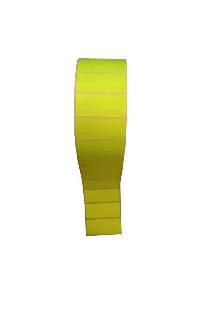 53x23mm Afneembaar 2.500 p.rol Fluo geel