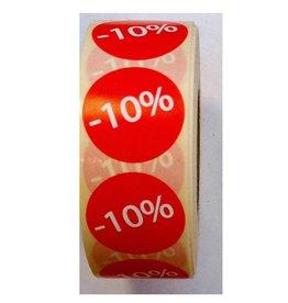 Afprijsetiket Rond -10% v.a. € 3,75 p.rol 1.000 st.