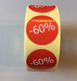 Afprijsetiket Rond -60% v.a. € 3,75 p.rol 1.000 st.
