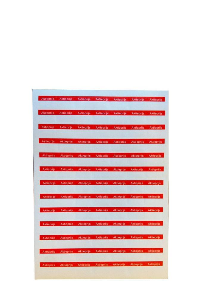 A4 Afprijsetiket 25x18mm AKTIEPRIJS in rood