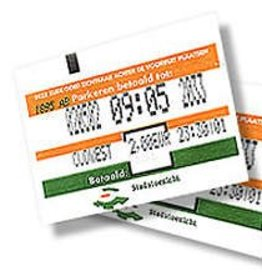 Toegang / parkeerticket ticket 60mm breed