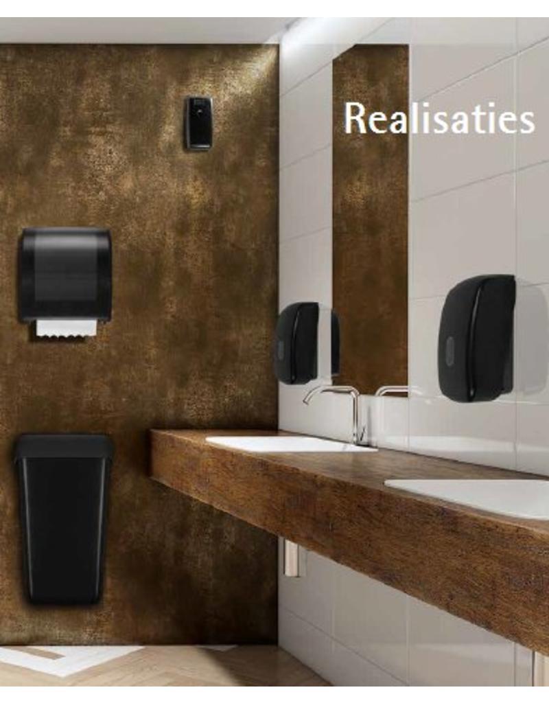 Dispenser doprol toiletpapier zwart