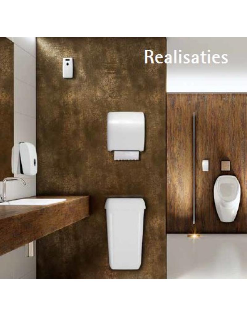 Dispenser doprol toiletpapier wit