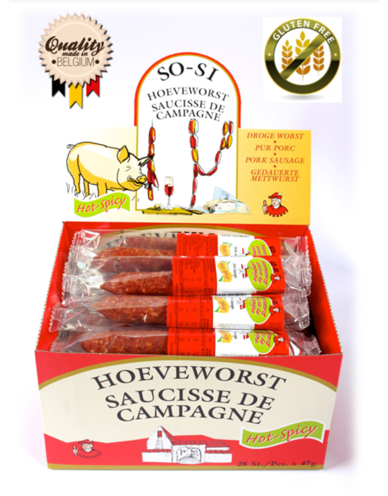 Breughel Hoeveworst Spicy 47g x 28st.