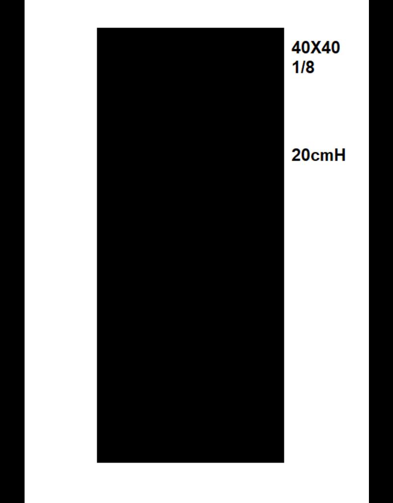 Zwarte servetten 1/8 40x40 - 2000st.