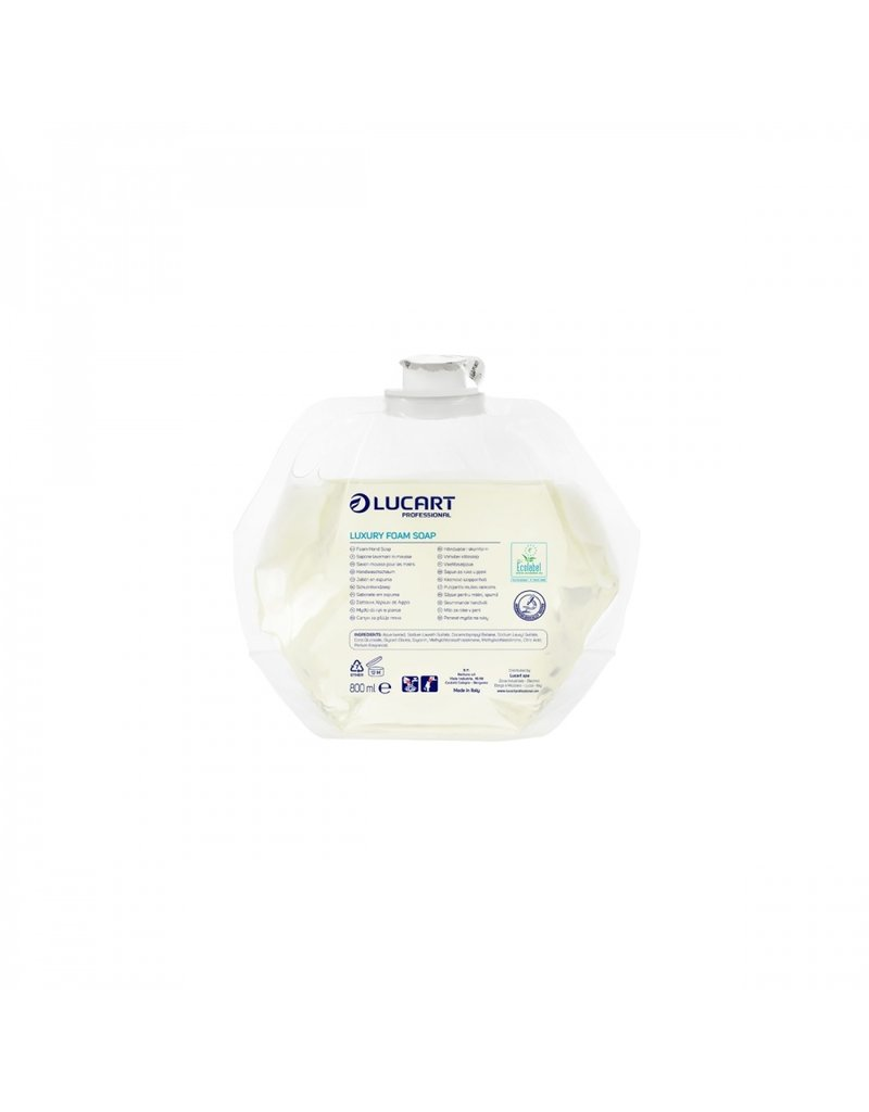 Lucart identity  luxury foam soap 892298R 6 x 800ml