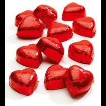 Chocolade hartjes in folie 3kg