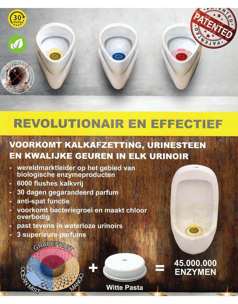 Urinoirmatje Active Screen Mango + Reinigingspasta
