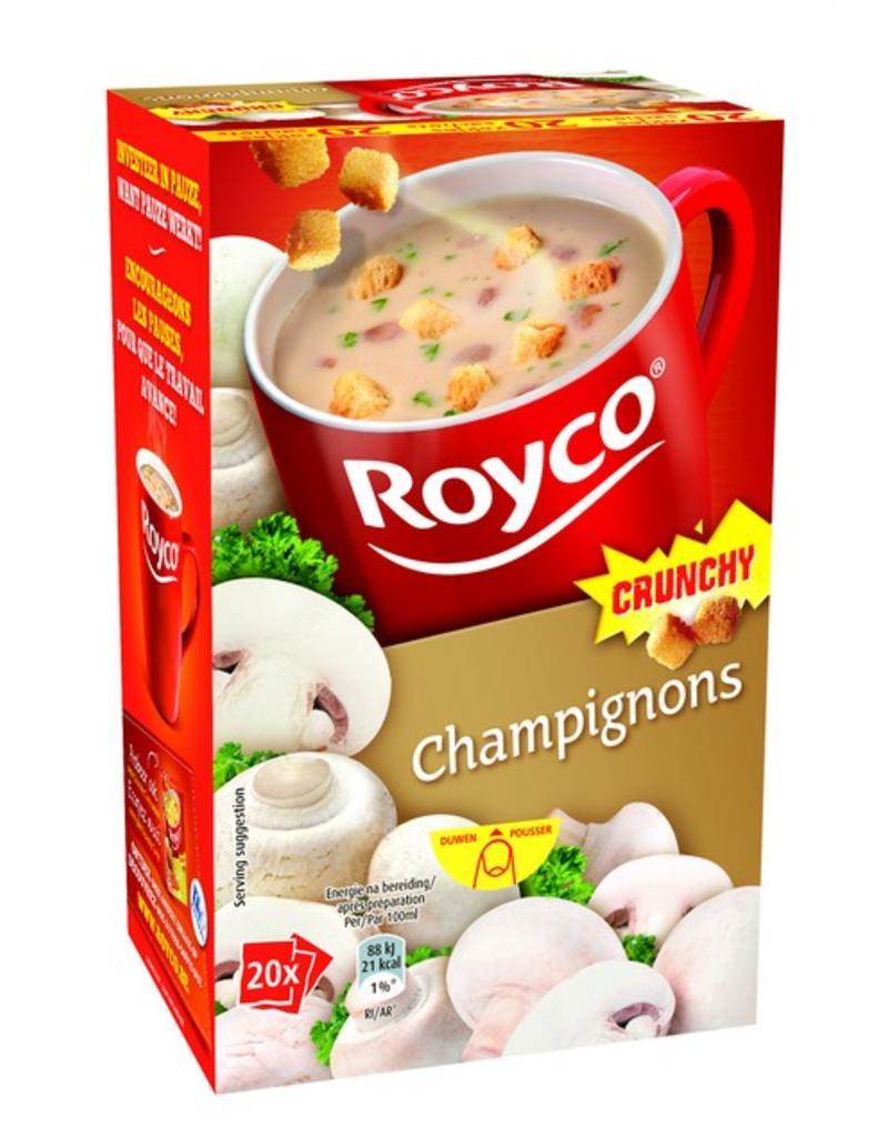 Royco Minute Soup Champignons Crunchy 20st.